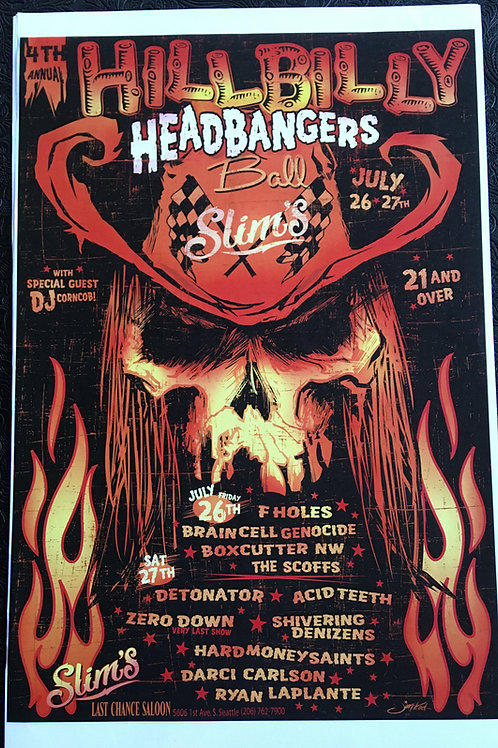 Hillbilly Headbangers Ball Posters
