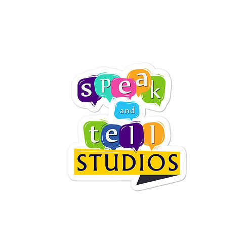 Speak and Tell bubble-free stickers