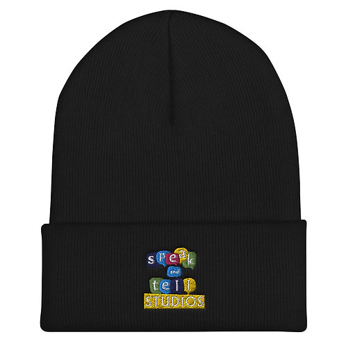Speak and Tell Cuffed Beanie