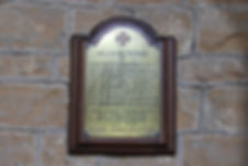 Grimston Church, War Memorial Plaque