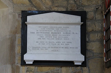 Grimston Church, Robert Noble Plaque