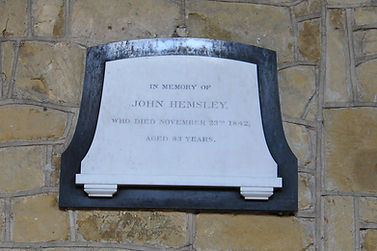 Grimston Church, John Hemsley Plaque