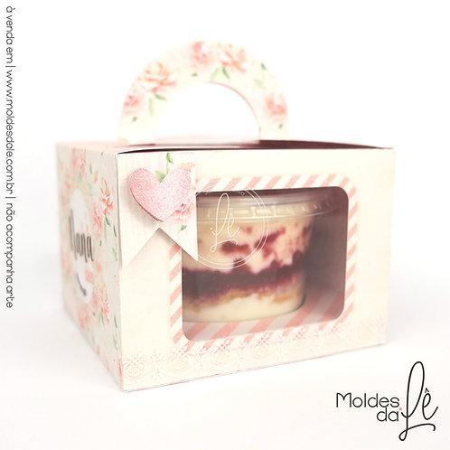 Caixa para bolo de Pote - 250ml Redondo
