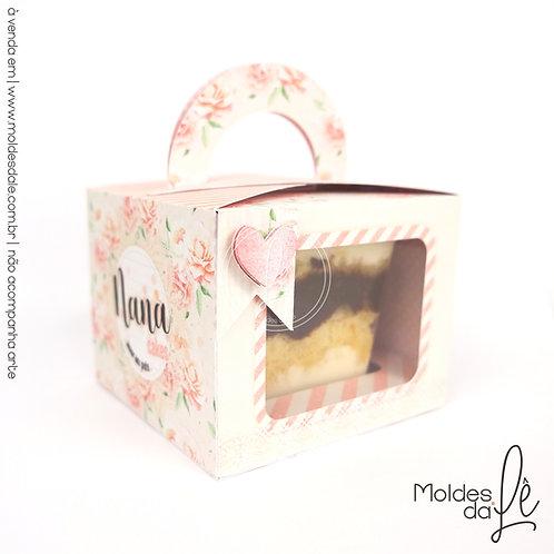 Caixa para bolo de Pote - 250ml Quadrado