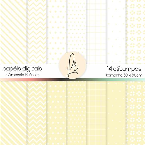 Kit de Papéis - Amarelo Pastel