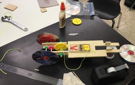 Mousetrap car construction