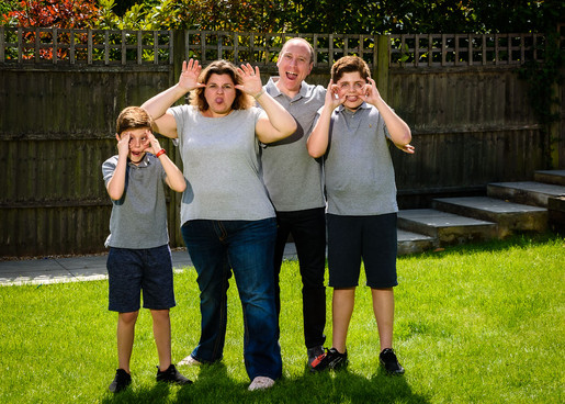 Family doorstep photo during Lockdown 2020 - Adam Soller Photography