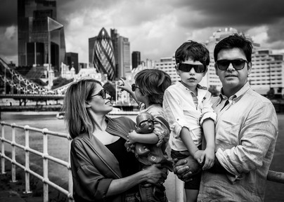Family on the thames river London during Lockdown 2020 - Adam Soller Photography