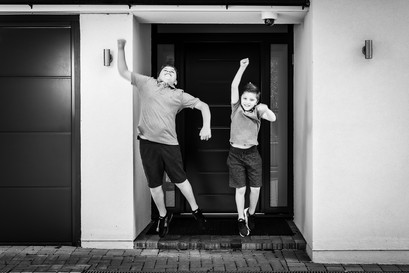 Brothers playing & Jumping by Adam Soller Photography