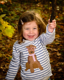 The Girl playing in the woods by Adam Soller Photography