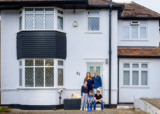 Family Doorstep Photography by Adam Soller Photography