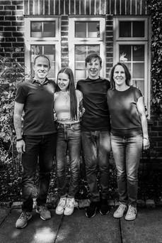 Family doorstep photo during Lockdown 2020