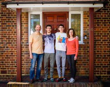 Door step Family in Lockdown by Adam Soller Photography