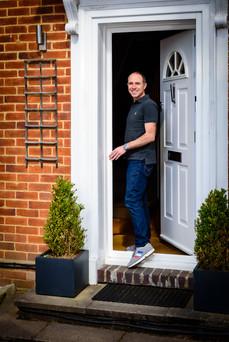 doorstep photo during Lockdown 2020 - Adam Soller Photography