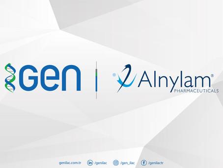 GEN ile Alnylam RNAi Tedavisi İçin Distribütörlük Anlaşması İmzaladı