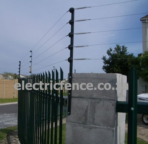 5-Strand Electric fencing using Straight tubing brackets