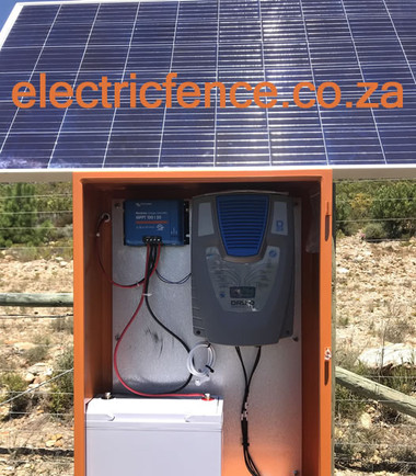 Self Contained Dual Zone Electric Fencing Solar Powered System