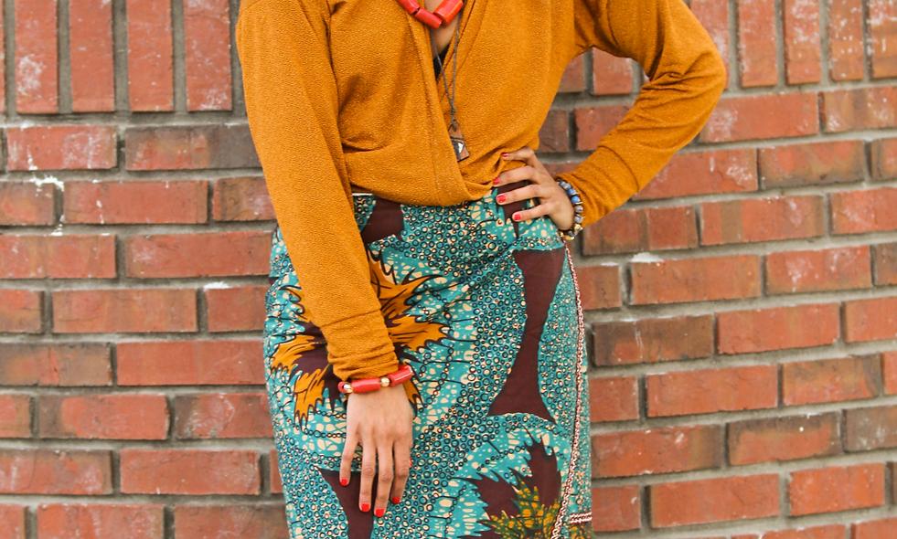 African Lapa & Gele Set