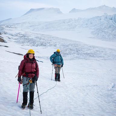 Descending Mt Baker