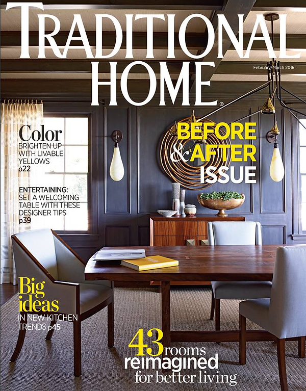 Featured In Traditional Home Magazine