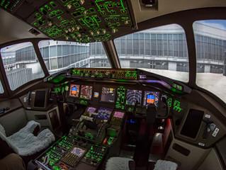 Flug im Flugsimulator