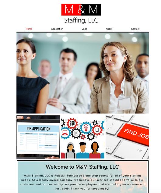 M&M Staffing Website
