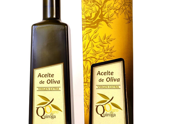 """ACEITE DE OLIVA VIRGEN EXTRA """"OURO DE QUIROGA"""" (500ML)."""