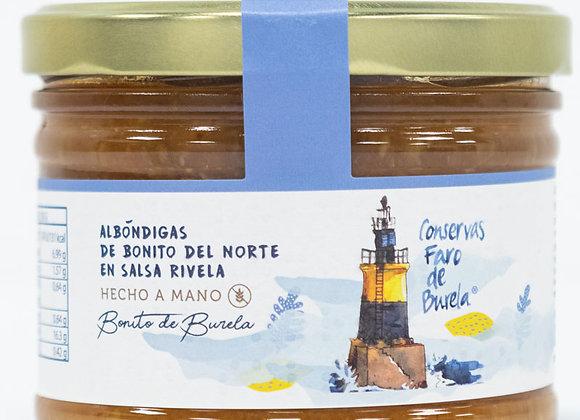BOTE DE ALBÓNDIGAS DE BONITO EN SALSA RIVELA (FARO BURELA)