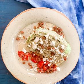 BLT Salad & Green Olive Balsamic Dressing