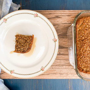 Soaked Oatmeal Butternut Bake