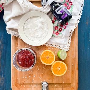 Mason Jar Elderberry Margarita