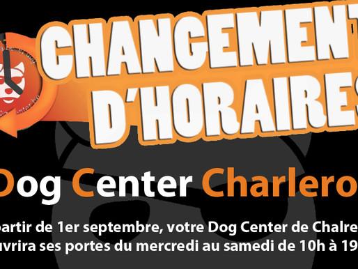 Charleroi : Changement d'horaires !