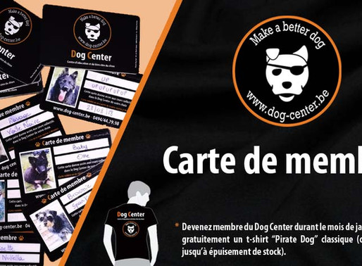 Nouveauté ! Carte de Membre Dog Center