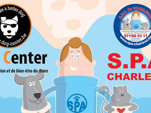 Collaboration entre la S.P.A. de Charleroi et le Dog Center ! Une grande première !
