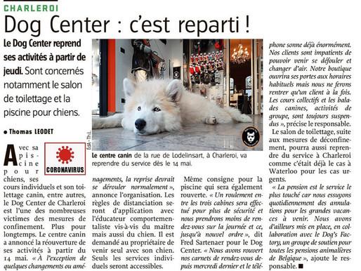 Lavenir.net : réouverture des Dog Center !