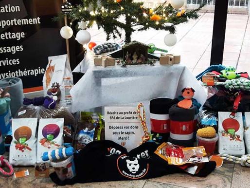 Dons pour Noël au profit de la SPA de La Louvière :