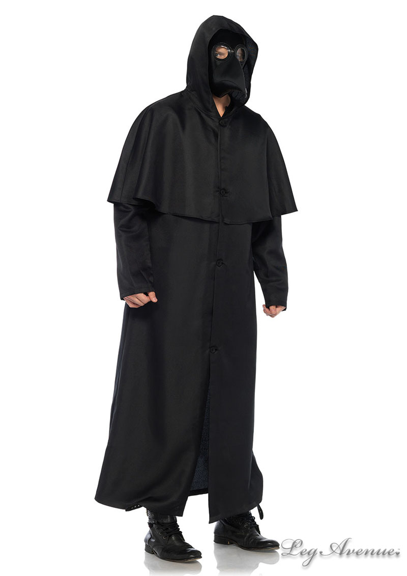 Hooded Button Front Cloak