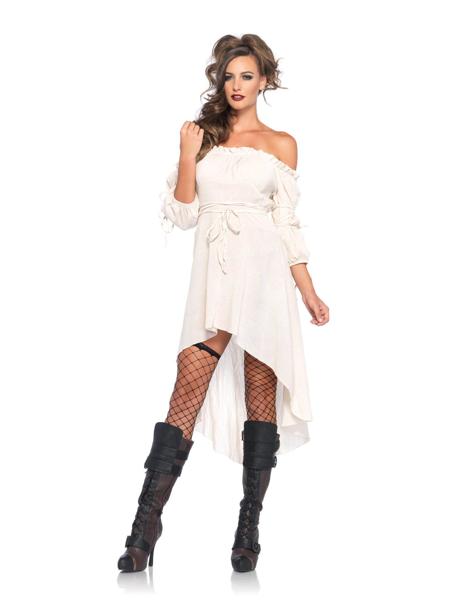 Gauze Dress in Ivory