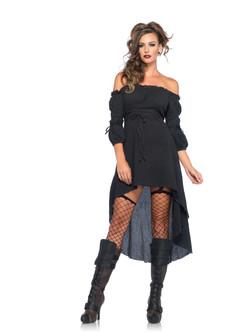 Gauze Dress in Black