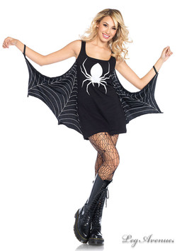 Jersey Spiderweb Dress