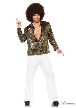 Gold Foil Zebra Disco Shirt