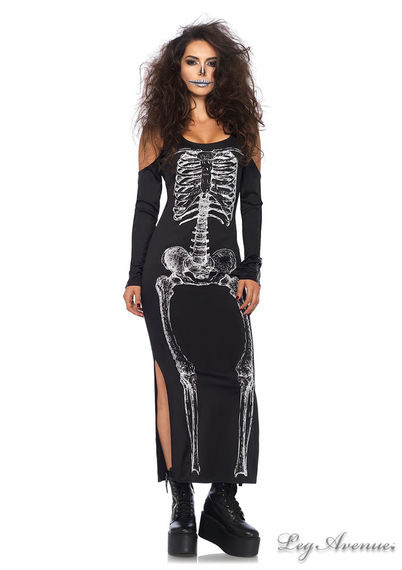 Side Slit Skeleton Dress