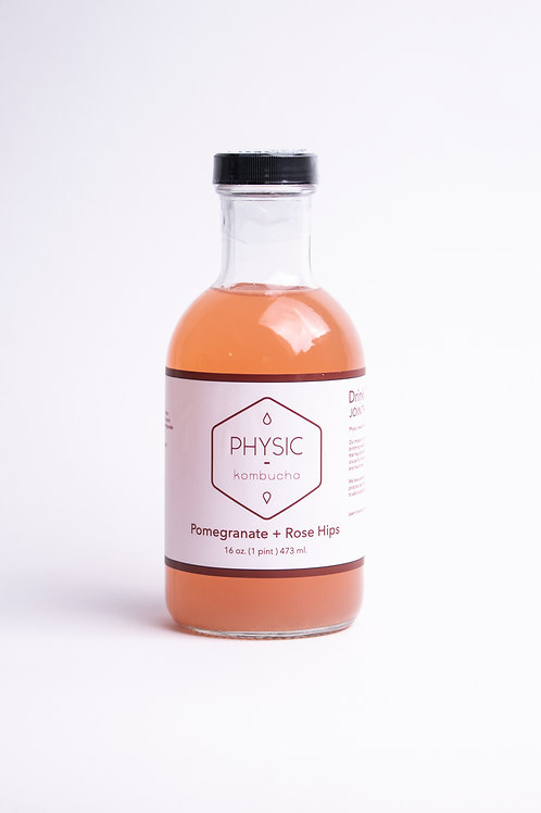Pomegranate + Rose Hip Kombucha Wholesale (12oz.)