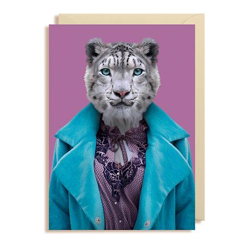 Card - Snow Leopard