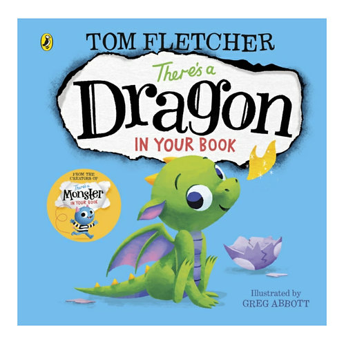 There's a Dragon in Your Book Board Book - Tom Fletcher & Greg Abbott