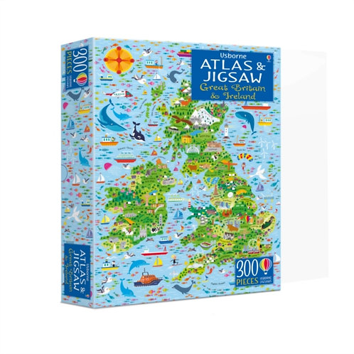 Atlas and Jigsaw: Great Britain and Ireland - 300 Pieces
