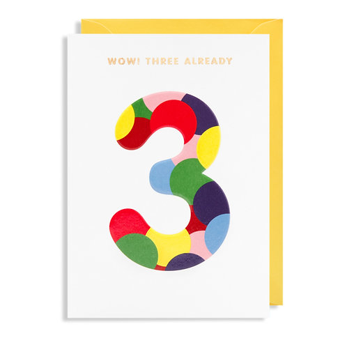 Card - Wow! Three Already