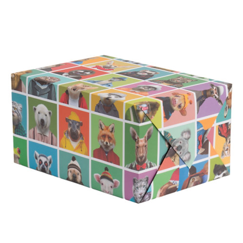 Zoo Portraits Wrapping Paper - 1 Sheet