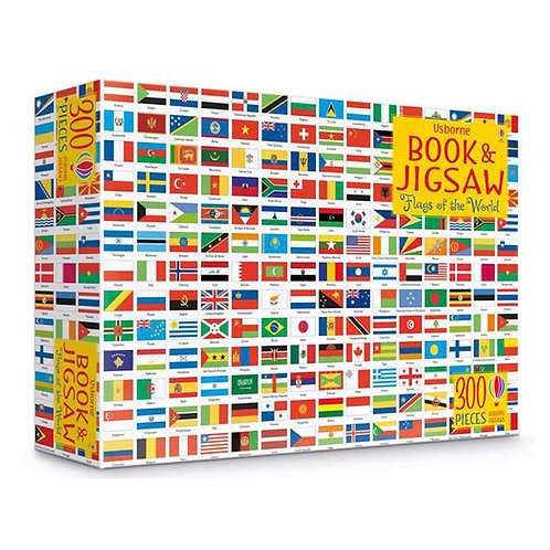 Flags of the World Book and Jigsaw - 300 Pieces