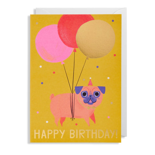 Card - Pug Birthday